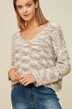 Hayden Multicolored Textured Sweater - Product List Image