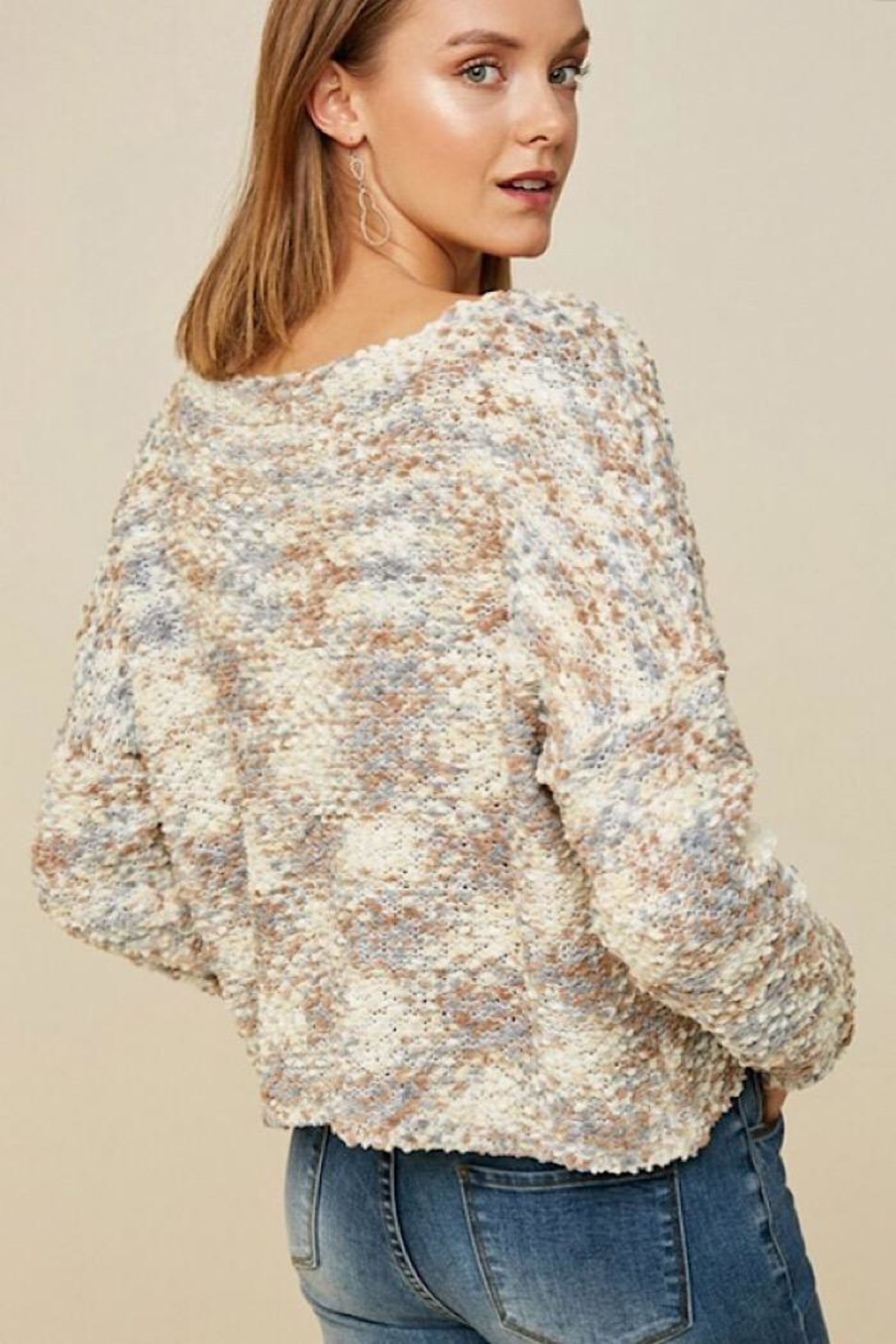 Hayden Multicolored Textured Sweater - Front Full Image