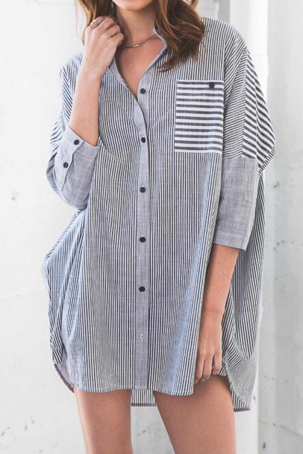6620b0c19251 Hayden Oversized Button-Up Top from Cambria by Ocean Heir — Shoptiques