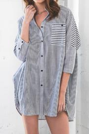 Hayden Oversized Button-Up Top - Product Mini Image