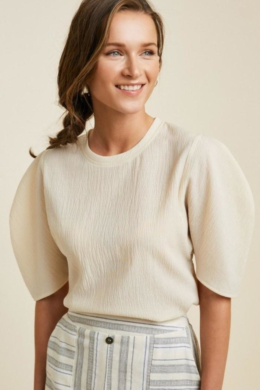 Hayden Puff Sleeve Top - Front Cropped Image