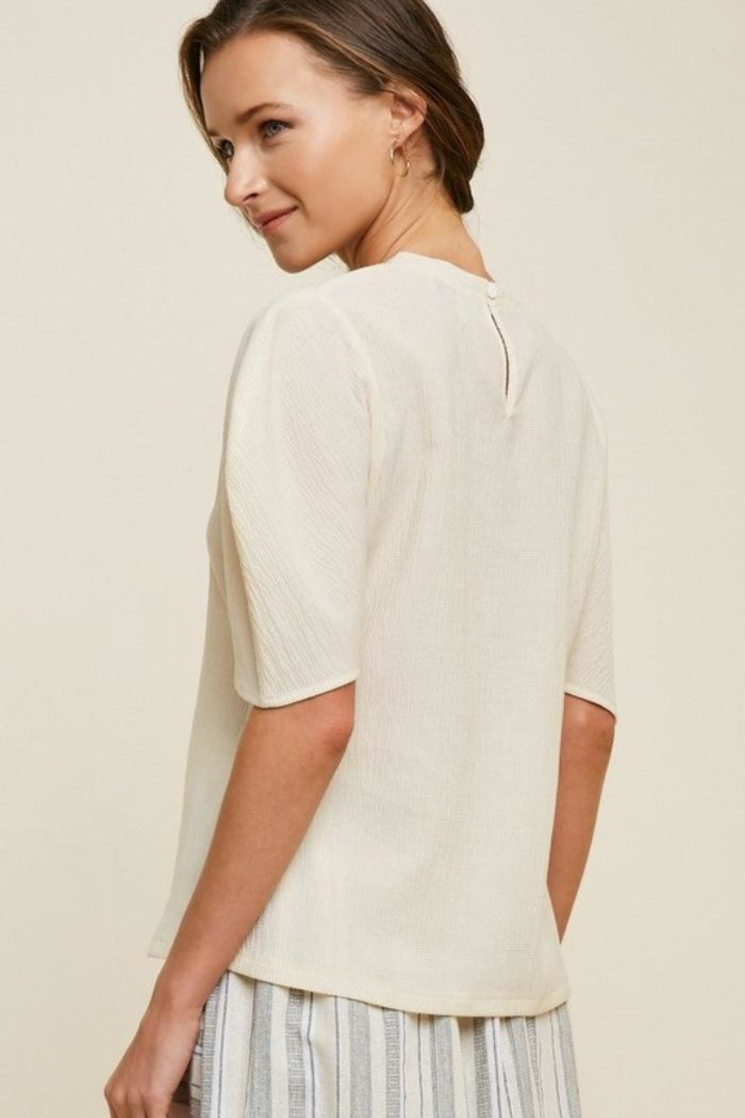 Hayden Puff Sleeve Top - Side Cropped Image