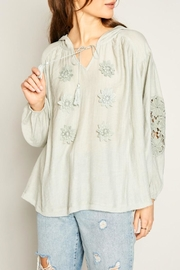 Hayden Applique Boho Blouse - Product Mini Image