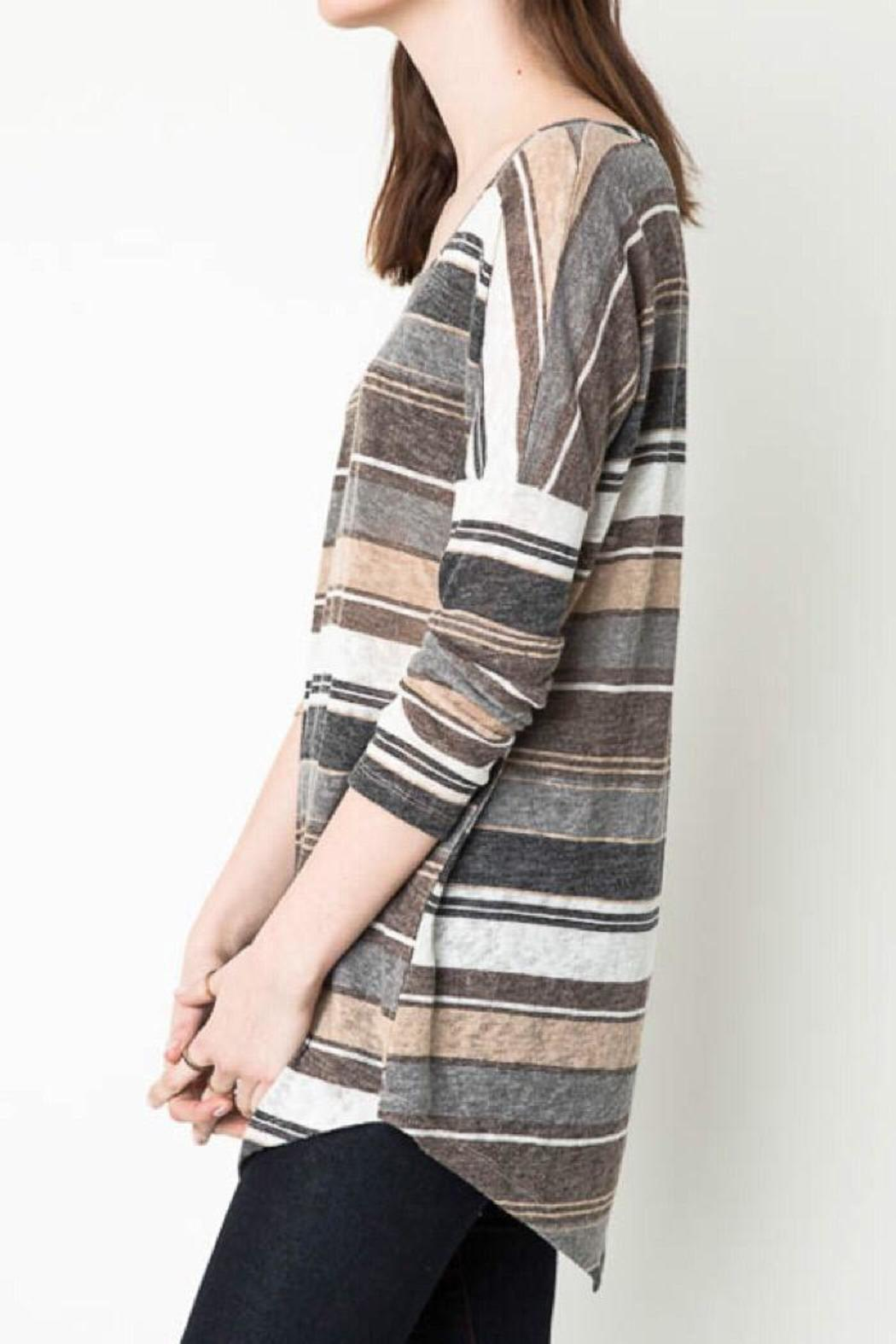 Hayden Casual Striped Tunic - Side Cropped Image