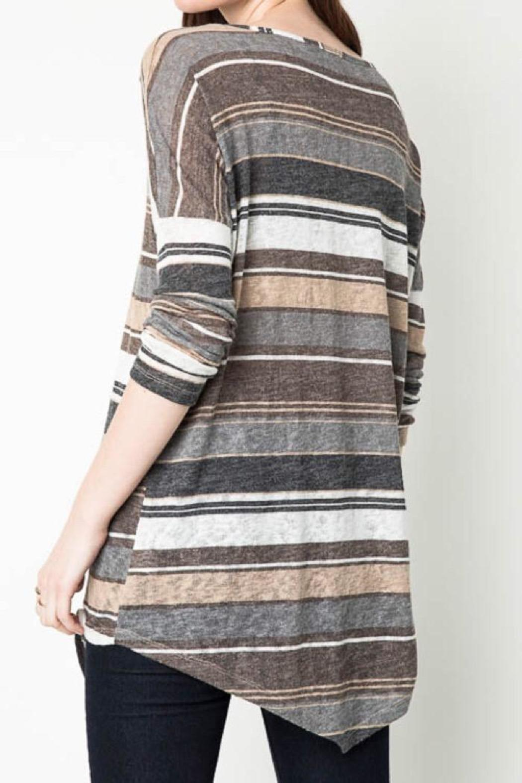 Hayden Casual Striped Tunic - Front Full Image