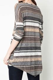 Hayden Casual Striped Tunic - Front full body