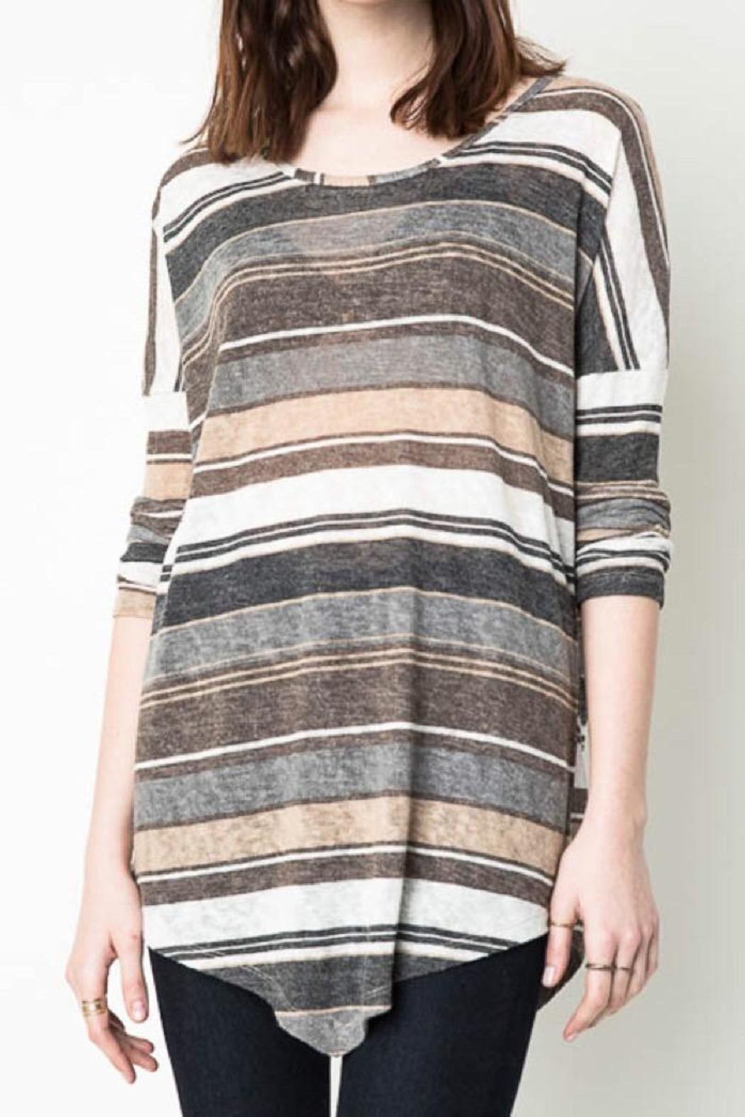 Hayden Casual Striped Tunic - Main Image