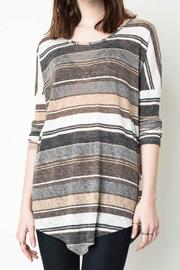 Hayden Casual Striped Tunic - Front cropped