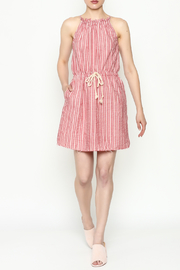 Hayden Striped Halter Dress - Side cropped