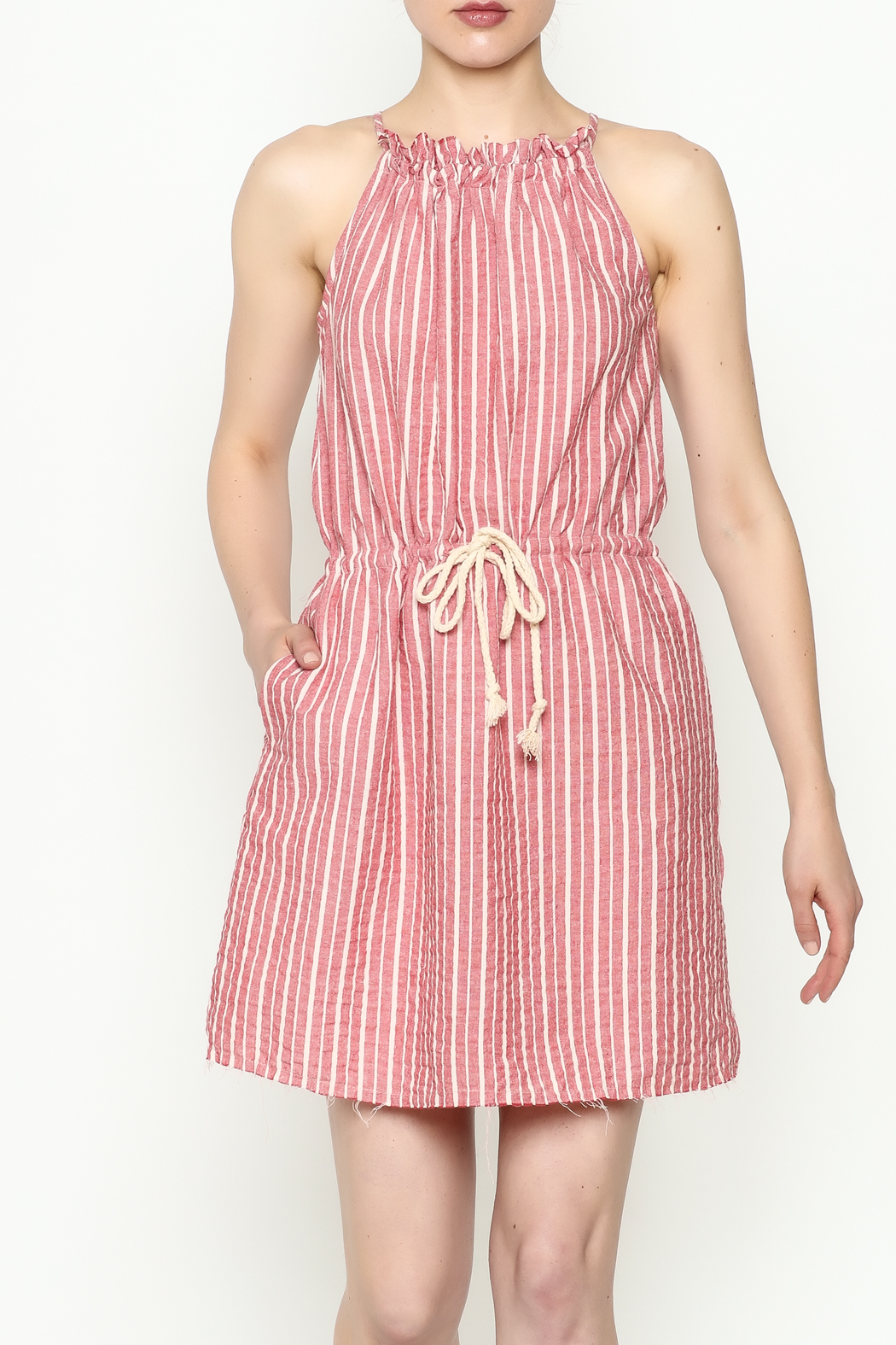 Hayden Striped Halter Dress - Main Image