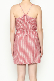 Hayden Striped Halter Dress - Back cropped