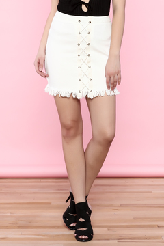 Shoptiques Product: White Denim Skirt