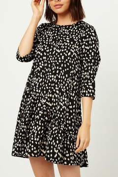 Hayden Los Angeles Asymmetrical-Dotted Swing Dress - Product List Image