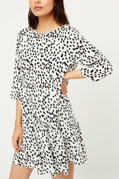 Shoptiques Product: Asymmetrical-Dotted Swing Dress