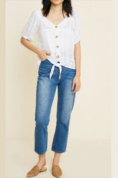 Hayden Los Angeles Sheer Button-Down Blouse - Product List Image