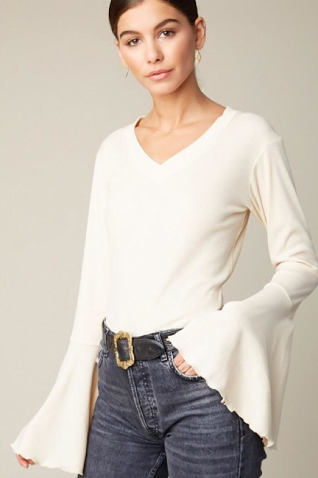 Hayden Los Angeles Bell Sleeve Longsleeve - Front Cropped Image