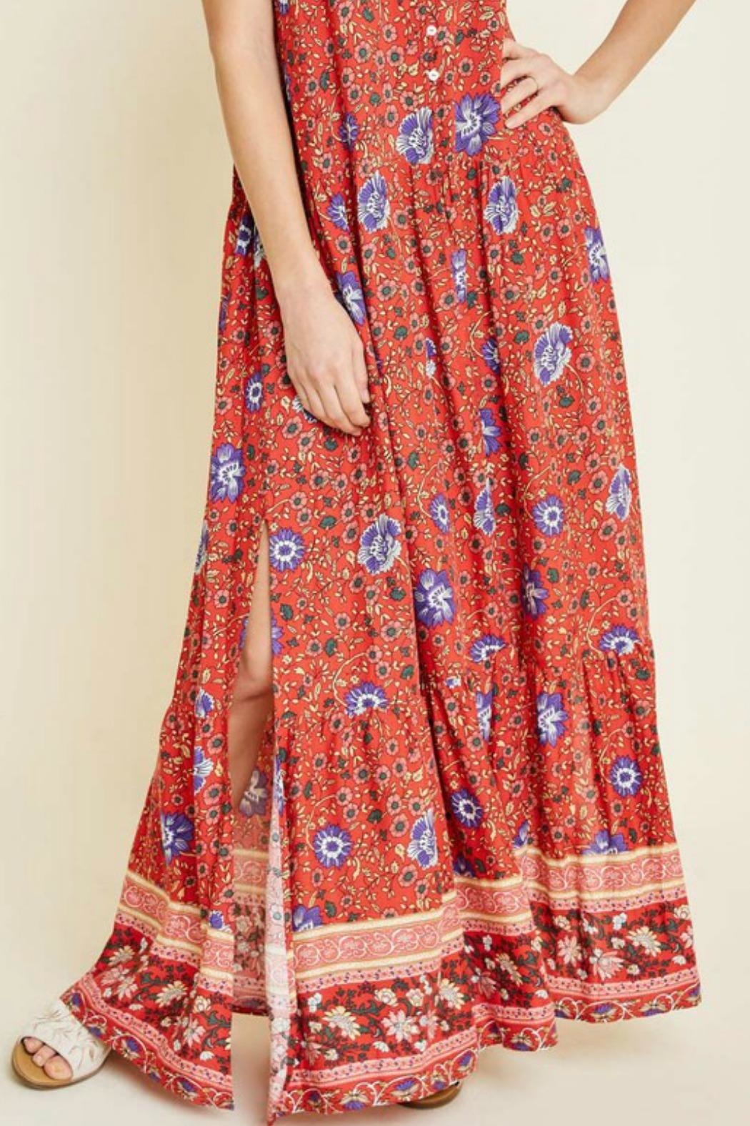 Hayden Los Angeles Bethenney Floral Maxi - Side Cropped Image