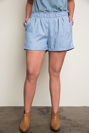 Hayden Los Angeles Blue Striped Shorts - Front cropped