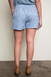 Hayden Los Angeles Blue Striped Shorts - Side cropped