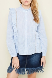 Hayden Los Angeles Button-Down Ruffle Top - Product Mini Image