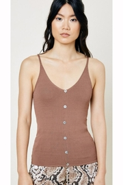 Hayden Los Angeles Button Sweater Tank - Product Mini Image