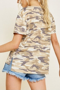 Hayden Los Angeles Camo Short-Sleeve Top - Alternate List Image