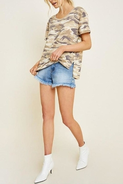 Hayden Los Angeles Camo Short-Sleeve Top - Product List Image
