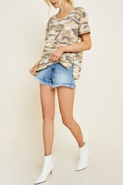 Hayden Los Angeles Camo Short-Sleeve Top - Product Mini Image