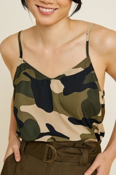 Hayden Los Angeles Camouflage Camisole Top - Product List Image