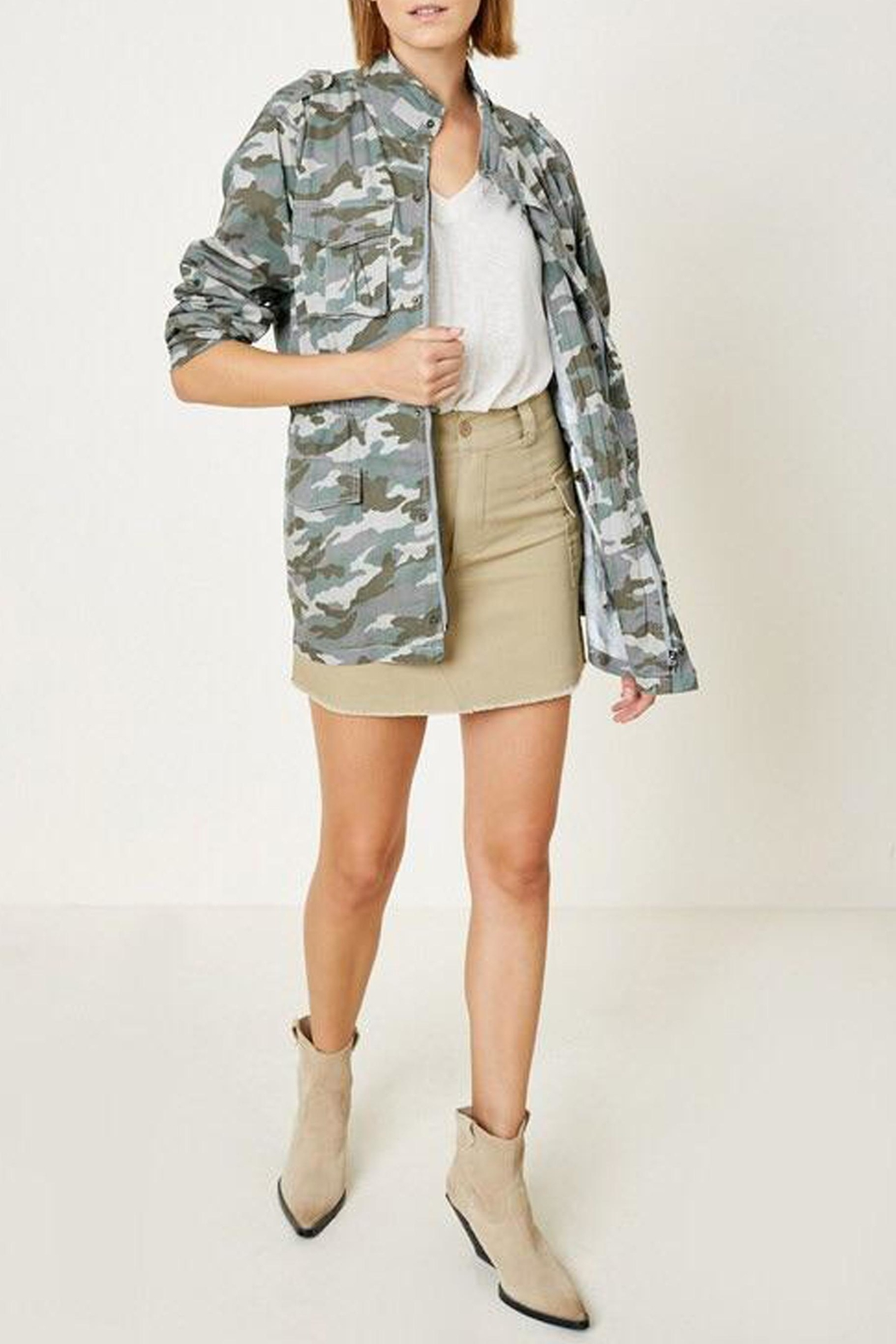 Hayden Los Angeles Cargo Camo Jacket - Back Cropped Image