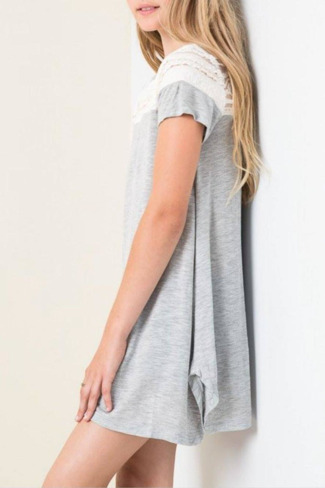 hayden los angeles casual lace tunic from kansas by seirer