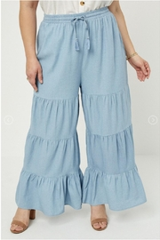 Hayden Los Angeles Chambray Wide Leg Pants - Side cropped
