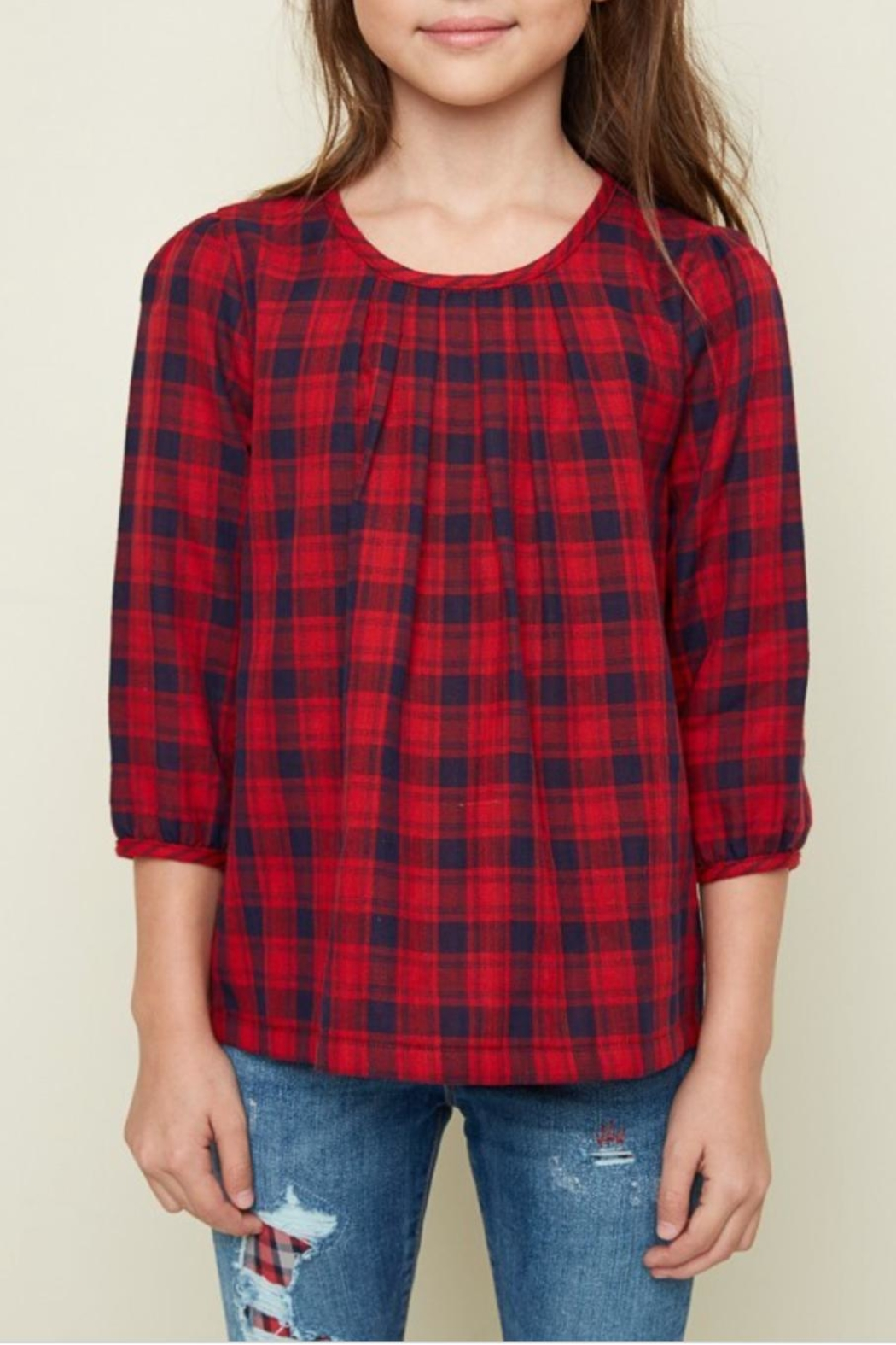 Hayden Los Angeles Classic Plaid Top - Main Image