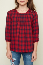 Hayden Los Angeles Classic Plaid Top - Front cropped