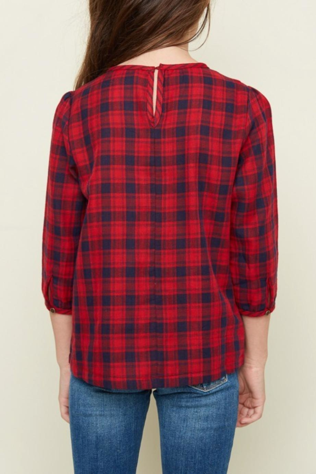 Hayden Los Angeles Classic Plaid Top - Front Full Image
