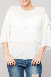 Hayden Los Angeles Cream Fem Top - Product Mini Image