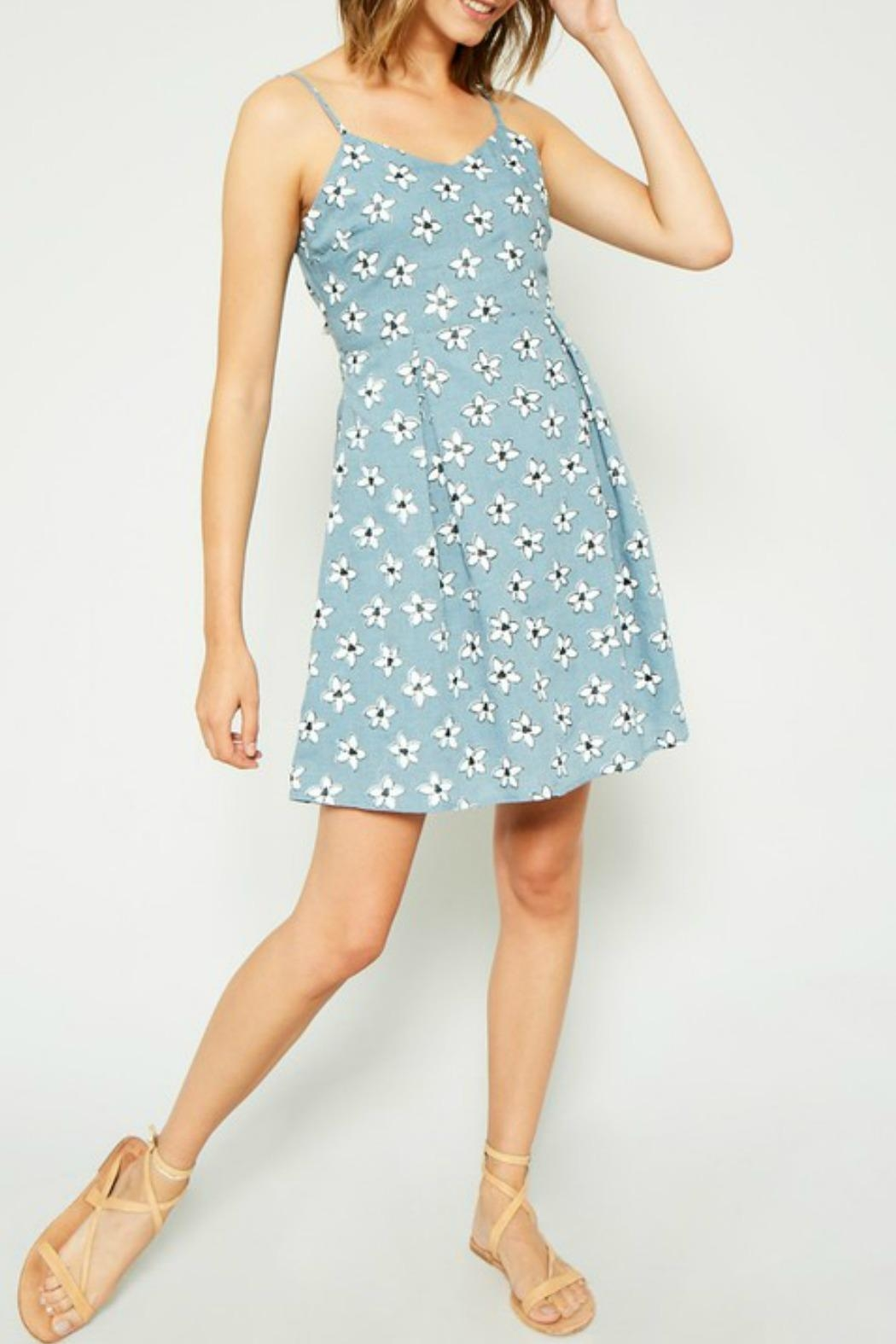 Hayden Los Angeles Daisy Tie-Back Dress - Front Cropped Image