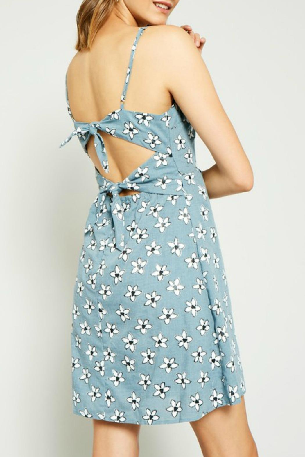 Hayden Los Angeles Daisy Tie-Back Dress - Back Cropped Image