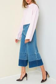Hayden Los Angeles Denim Frayed Culottes - Product Mini Image
