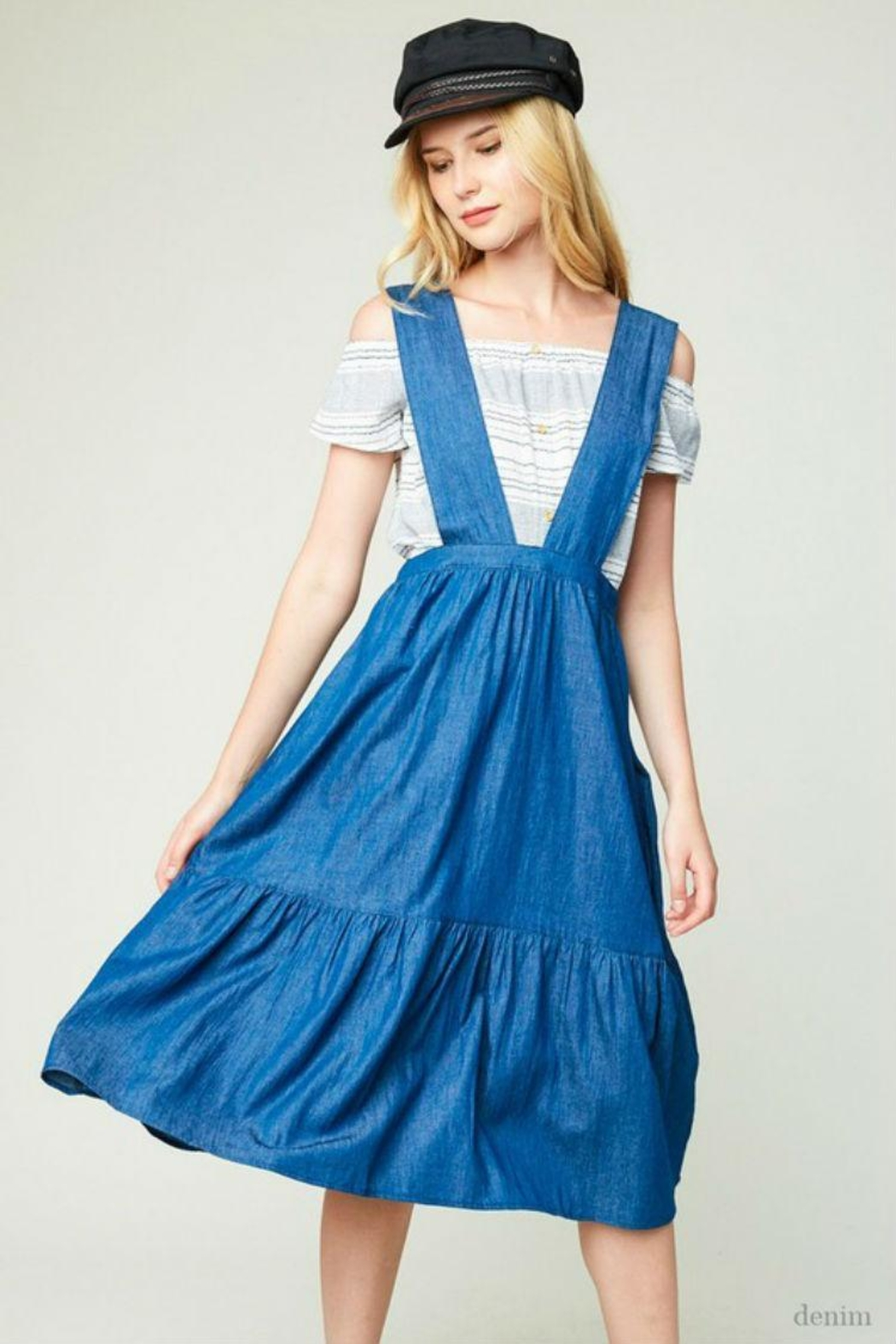 Hayden Los Angeles Denim Overall Dress - Main Image