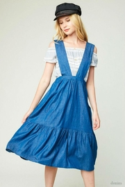 Hayden Los Angeles Denim Overall Dress - Front cropped