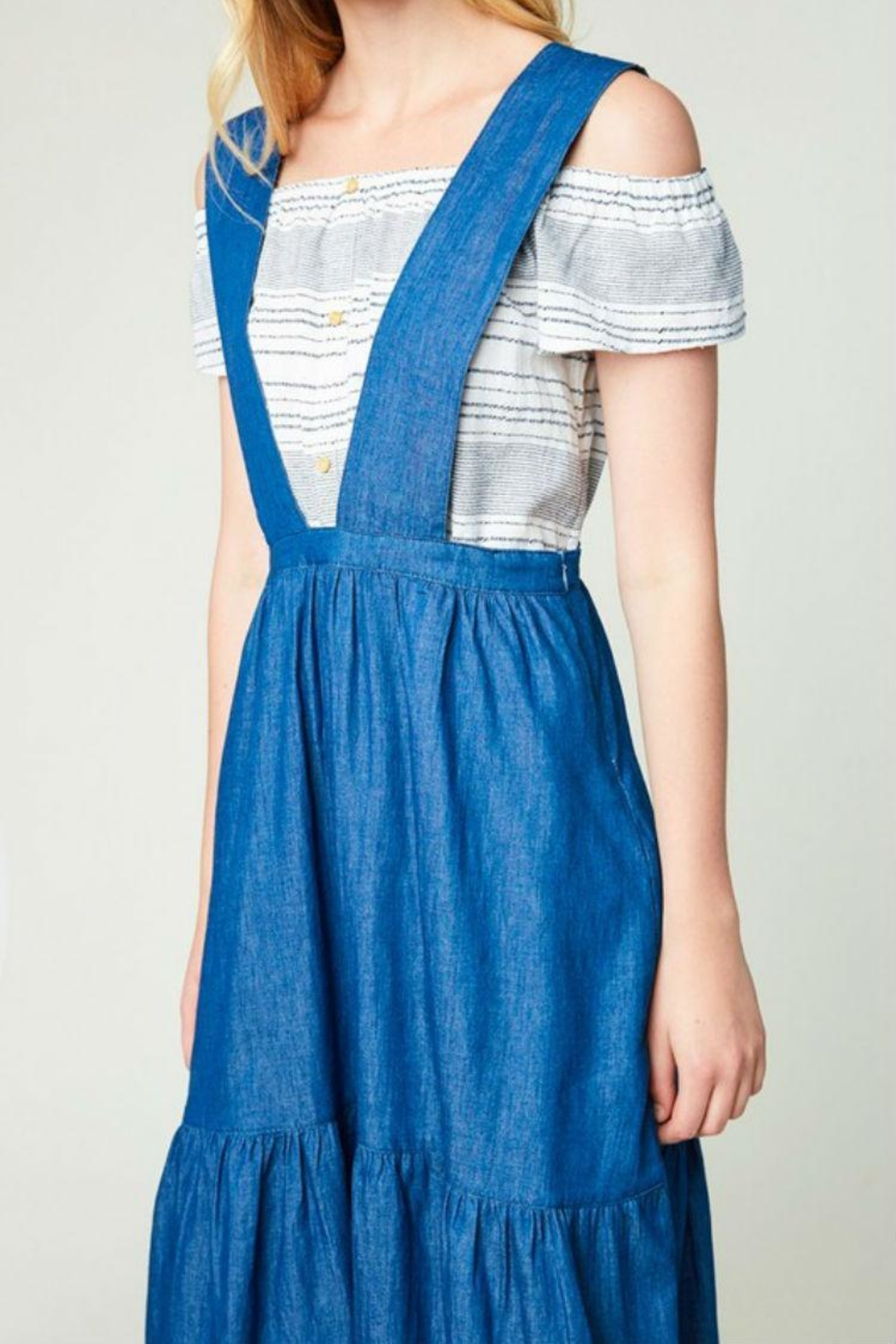 Hayden Los Angeles Denim Overall Dress - Side Cropped Image