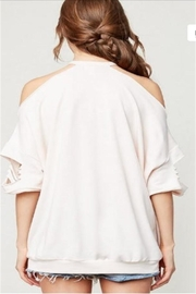 Hayden Los Angeles Distressed Oversized Top - Side cropped