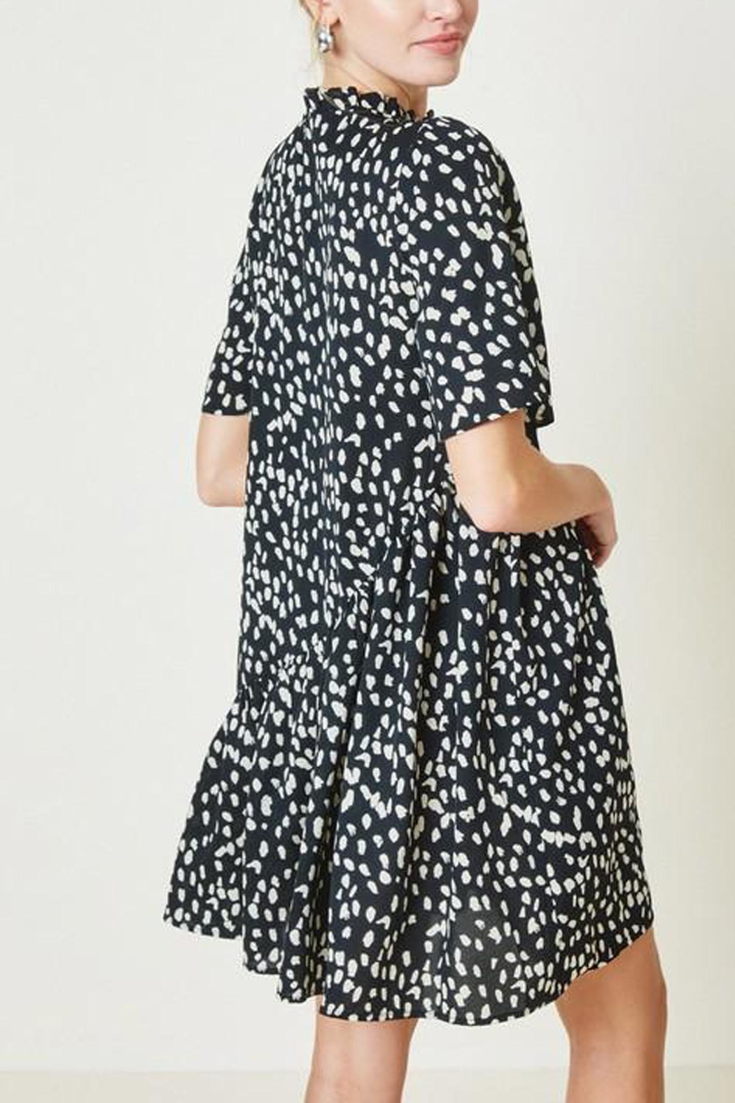 Hayden Los Angeles Dotted-Asymmetrical Ruffle Mini-Dress - Side Cropped Image