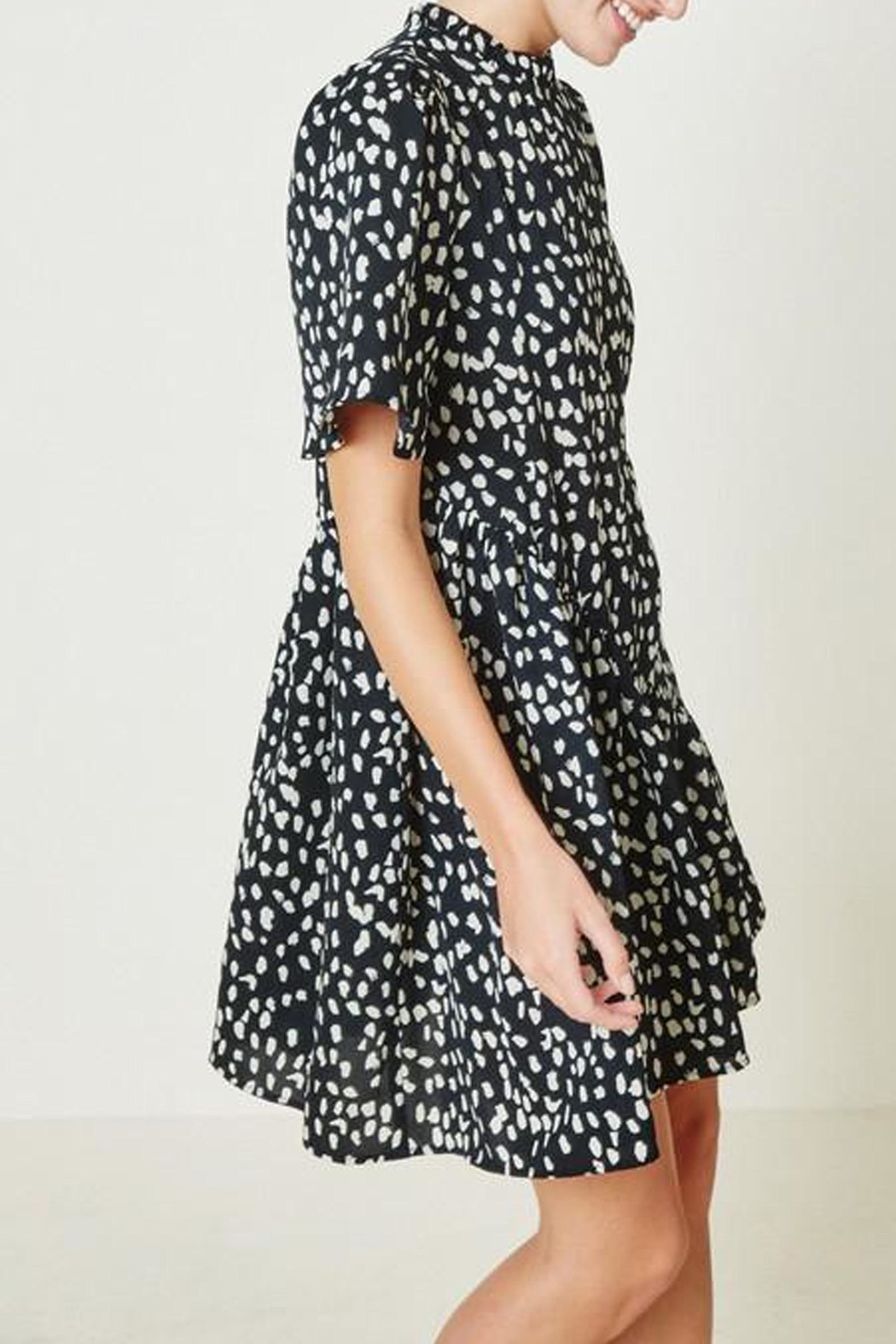Hayden Los Angeles Dotted-Asymmetrical Ruffle Mini-Dress - Front Full Image