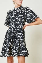 Hayden Los Angeles Dotted-Asymmetrical Ruffle Mini-Dress - Front cropped