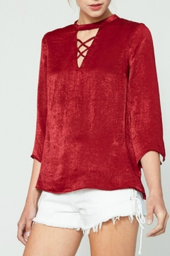 Hayden Los Angeles Draped Satin Blouse - Product List Image