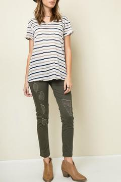 Shoptiques Product: Drawstring Distressed Jeans