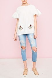 Hayden Los Angeles Embroidered Pockets Top - Other