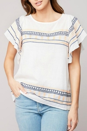 Hayden Los Angeles Embroidered Cotton Top - Product Mini Image